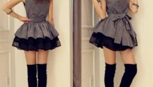 Model Baju Pesta Mini Dress Asal Negeri Ginseng Dengan Eksplorasi Rok Dan Hiasan Ikat Pinggang