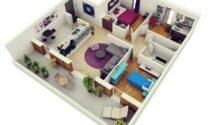 Desain 3d Apartemen Minimalis Tipe Paling Lengkap