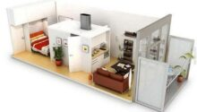 Desain 3d Apartemen Minimalis Tipe Sempit Menarik
