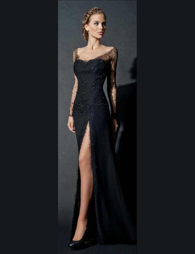 Model Long Dress Lengan Panjang 5